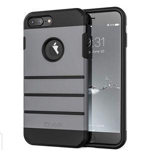 iPhone 8 Plus/7 Plus Case- Slate Grey